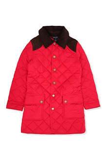 RALPH LAUREN Long quilted jacket 7-16 years