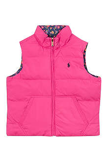 RALPH LAUREN Reversible sleeveless down jacket S-XL