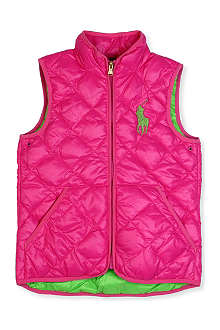 RALPH LAUREN Big pony quilted gilet 8-16 years