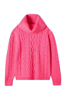 RALPH LAUREN Slouchy cable knit jumper S-XL