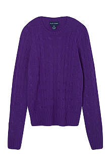 RALPH LAUREN Cable knit cashmere jumper S-XL