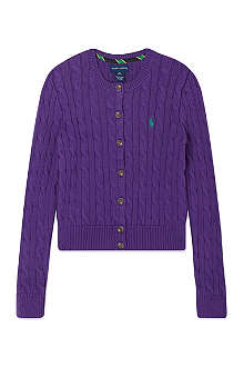 RALPH LAUREN Shrunken fit cardigan S- XL