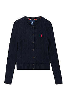 RALPH LAUREN Shrunken fit cardigan S-XL