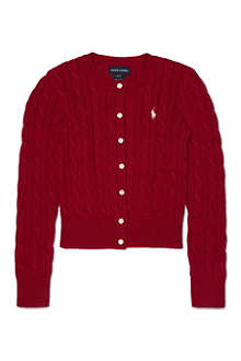RALPH LAUREN Cable-knit cardigan S-XL