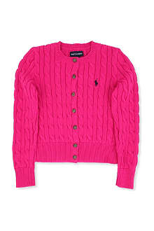 RALPH LAUREN Shrunken-fit cable-knit cardigan S-XL