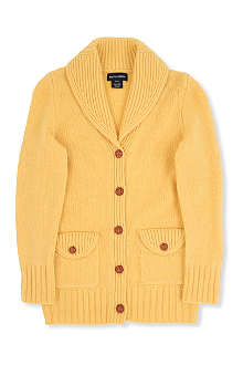 RALPH LAUREN Elbow patch shawl cardigan 7-16 years