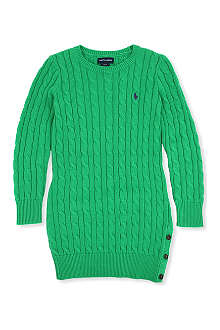 RALPH LAUREN Cable-knit dress 7-16 years