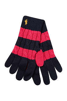 RALPH LAUREN Rugby cable knit gloves