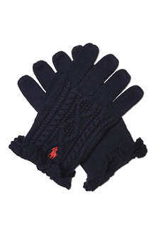 RALPH LAUREN Aran knit gloves