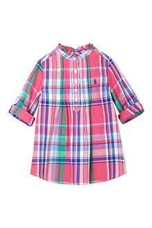 RALPH LAUREN Pink Checked Tunic 2-7 years