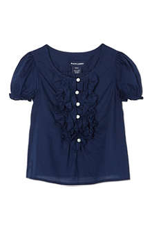 RALPH LAUREN Ruffle front top 2-7 years