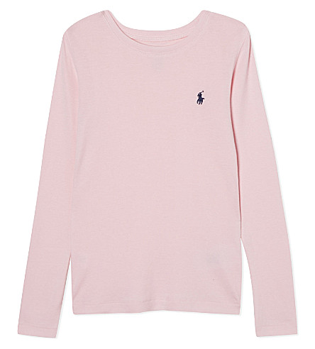 RALPH LAUREN Logo cotton top 2-7 years (Carmel+pink