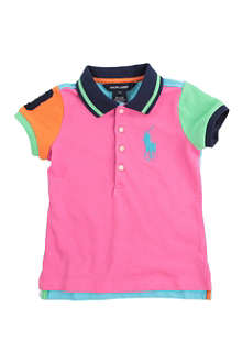RALPH LAUREN Colour-block polo shirt 2-7 years