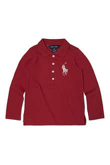 RALPH LAUREN Big Pony foil polo shirt 2-7 years