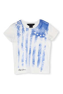 RALPH LAUREN Flag print cotton t-shirt 4-7 years