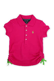 RALPH LAUREN Stretch-mesh cotton polo shirt 2-7 years