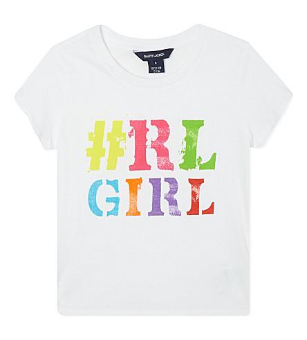 RALPH LAUREN Printed t-shirt 2-7 years (White