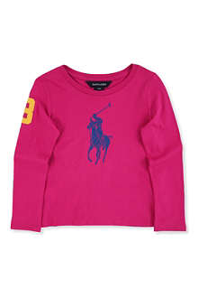 RALPH LAUREN Long-sleeved polo pony top 2-7 years