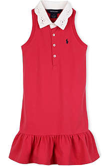 RALPH LAUREN Crochet-collar Rugby dress 2-7 years