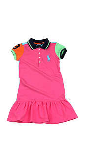 RALPH LAUREN Colour-block polo dress 2-7 years