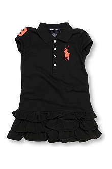 RALPH LAUREN Neon number polo dress 2-7 years