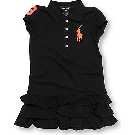 RALPH LAUREN Neon number polo dress 2-7 years (Black