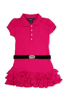 RALPH LAUREN Concho belt cotton polo dress 2-7 years