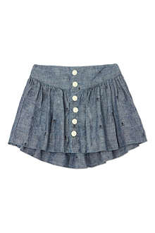 RALPH LAUREN Skull print denim skirt 2-7 years