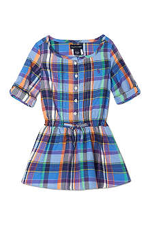 RALPH LAUREN Checked Open Neck Shirt Dress 2-7 years