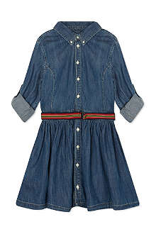 RALPH LAUREN Long-sleeved denim shirtdress 2-7 years