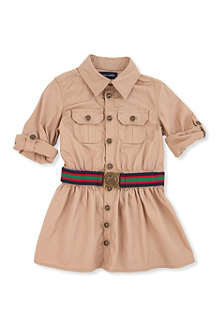 RALPH LAUREN Twill cargo shirtdress 2-7 years