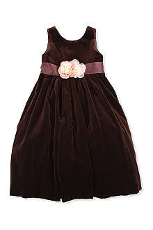 RALPH LAUREN Velvet dress with silk flowers 2-7 years