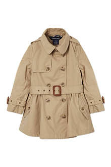 RALPH LAUREN Classic full skirt trench coat 2-7 years