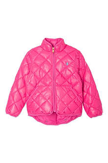 RALPH LAUREN Pink quilted jacket 2-7 years