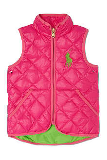 RALPH LAUREN Big Pony quilted gilet 2-7 years