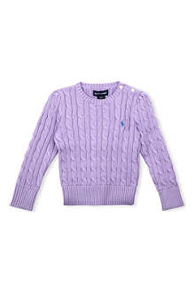 RALPH LAUREN Cable-knit jumper 2-7 years