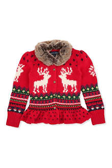 RALPH LAUREN Reindeer cardigan 2-7 years