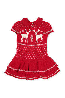 RALPH LAUREN Reindeer knit dress 2-7 years