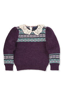 RALPH LAUREN Fair Isle crochet sweater 2-7 years