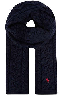 RALPH LAUREN Aran cable knit scarf