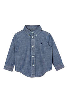 RALPH LAUREN Denim button-down shirt 9-18 months