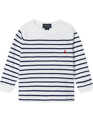 RALPH LAUREN Long-sleeved striped t-shirt 9-24 months
