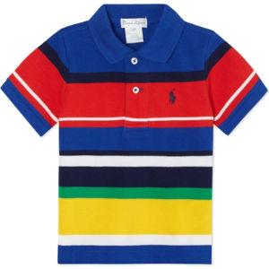 Colour-block pony polo shirt 3-24 months