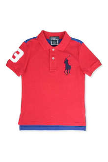 RALPH LAUREN Big Pony two-tone polo shirt 9-24 months