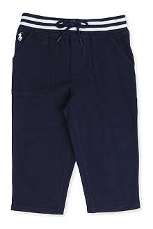 RALPH LAUREN Striped-waist jogging bottoms 3-24 months