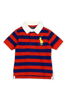 RALPH LAUREN Big Pony rugby top 9-18 months