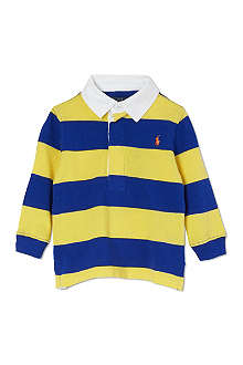 RALPH LAUREN Striped rugby shirt 9-24 months