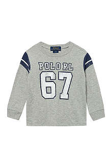 RALPH LAUREN Faded sports print t-shirt 9-24 months