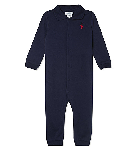 RALPH LAUREN Cotton baby-grow newborn-12 months (French+navy