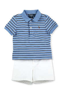 RALPH LAUREN Polo shirt and shorts set 9-18 months